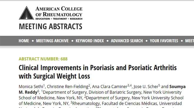 artritis psoriasica estudio obesidad