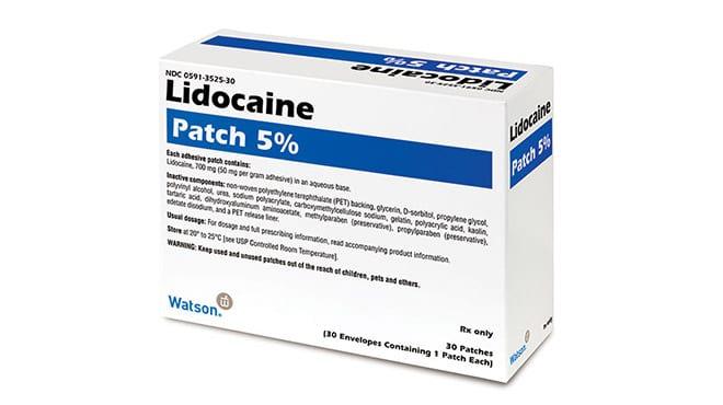 Diabetes parches lidocaina
